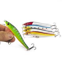 Продажа Плавучий промысел Minnow Lure 8CM 5.5G Пластиковый воблер Искусственный жёсткий приманка Pesca Carp Bait Swim Bait Crank bap 5Pcs / Lot