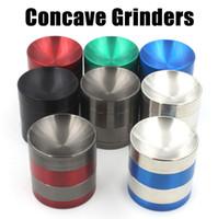 NOUVEAU concaves Grinders Herb Grinders 50/55 / 63mm 4 couches métalliques Grinders en alliage de zinc concaves Surface Tabacco Grinder VS sharpstone Grinders