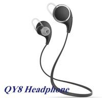QY8 Earphone V4.1 sans fil Bluetooth casque Mini Sport Casque stéréo Bluetooth In Ear Headphone Pour boîte 6S Iphone Android Retail EAR197