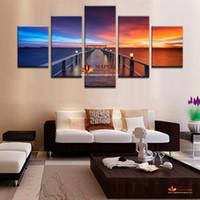 5 панели большие настенные картины на холсте современный абстрактный холст картины морской пейзаж для гостиной декоративного декора дома настенной росписи искусства