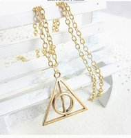 Hot Sale 3 Colors Harry Potter Deathly Hallows Necklace Tria...