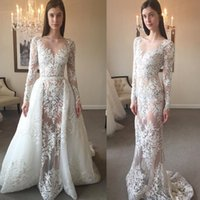 New Arrival Beaded Applique Wedding Dresses Long Sleeve Brid...