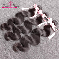 Natural Black Body Wave Brazilian Hair Weave Cheap Remy Virg...