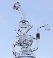 Nouveau verre d'eau d'arrivée tuyaux de quartz banger clou, nouveau verre d'oeuf bongs Recycler avec engrenage perc 14,5 mm joint mâle