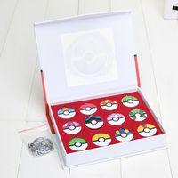 12Pcs set Poke Ball Anime Action Figures Toys Poket center P...