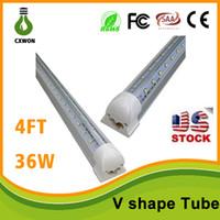 V- Shaped T8 Led Tube Lights 4FT 36W Integrated Cooler Door L...