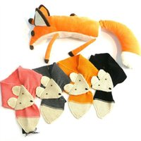 O bebé Ins fox Lenços doce menina Primavera Outono aquecer Crochet Malha Fox Wraps menina presente de Natal