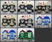 Stitched Pittsburgh Penguins Hoody #87 CROSBY 71 Malkin Lemi...