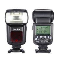 Godox V860II-N i-TTL 1 / 8000S HSS Master Slave GN60 Speedlite Flash incorporato 2.4G X sistema senza fili con 2000mAh batteria ricaricabile Li-ion D1836