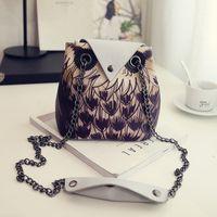 2016 New women Printing Owl Pattern Shoulder bag Carton Styl...
