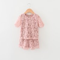 Everweekend Girls Summer Lace Outfits Tops and Shorts 2pcs S...