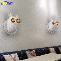 Euro- America Creative Aisle Corridor Owl Wall Lamp Simple Ch...
