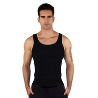 Men' s Tight Slimming Body Shaper Vest Shirt Abs Abdomen...