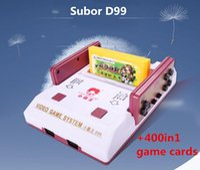 Subor Classic Box Game Machine Red White D99 Set + Free 400in1 Game Card Action Aventure Puzzle Machine de jeu