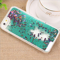 Quicksand Dynamic Liquid TPU Étuis pour iphone 7 7 Plus I7 Iphone7 Sand Glitter Star Luxe Bling Diamond Stone couvre la peau