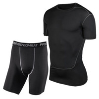 S- XXXL Men Sport Suits Compression Base Layers Under Tops Sh...