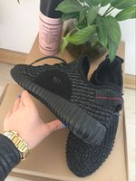 (with box receipt) 2016 HOT Kanye West Boost 350 Pirate Blac...