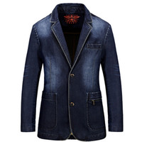 2016 Brand Denim Men Blazer masculino Jacket Slim Fit Casual...