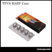 Authentique SMOK TFV8 Baby Coils -X4 0.15 ohm Quatuor Core TFV8 Baby Q2 0.2 ohm Dual Core T8 / T6 Core pour bébé TFV8 Tank 100% Original