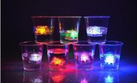LED Ice Cube Fast Flash Slow Flash 7 Color Auto Changing Cry...