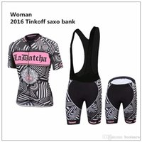 2016 Tinkoff Saxo Bank Women Cycling Jersey Sets Short Sleev...