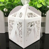 Free Shipping 100pcs Laser Cut Wedding Favor Boxes Wedding C...