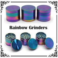 Arc-Grinders en alliage de zinc métal Grinders 40 / 50mm Diamètre 4 Pièces Herb Grinders Herb Crushers Livraison rapide
