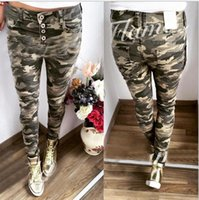 2016 Camouflage Women Pants Skinny Pencil Pants Casual Trous...