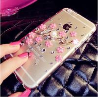 For i6 6s  6splus Case 3D Flower Peatal Love Rhinestone Diam...