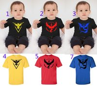 Children Poke Pattern T- shirts 6 color Boys girls Pikachu Je...