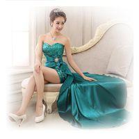 Alimida Asymmetrical Evening Dress Sweetheart Backless Short...