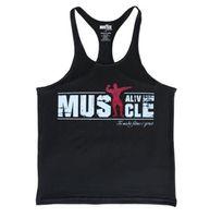 Active Tank Top Mens Musculação Stringer Athelete Vest Fitness Muscle Camisa Algodão Tops sem mangas roupa Debardeur Homme Frete Grátis