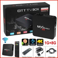 MXQ PRO Android TV Box Amlogic S905 64bits Quad Core UHD 4K Set-приставка HDMI 2.0 KODI XBMC Miracast DLNA Smart TV Box