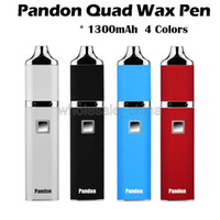 Authentique Yocan Pandon QUAD Crayon Cache Kits E Cigarette Kits 1300mAh Batterie 4 bobines Kits 2 QDC Voltage réglable Yocan Evolve bobine Comptable