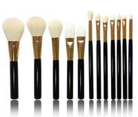 5pcs 7pcs 12pcs Maquillage Brosse Set Poudre Fondation Blusher Correcteur Brosses Cheveux Cheveux Sourcil Eye Brow Lipsticks Make Up Tool DHL