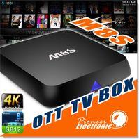 Quad Core M8S TV Box 2G / 8G double bande 2.4G / 5G wifi Android 4.4 Amlogic S812 puce 4K XBMC Full HD Smart TV boîte 1080p Streaming Media Player