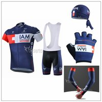 2015 New Arrive IAM Cycling Jersey Sets Short Sleeve With Si...