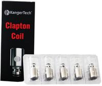 Authentic Kangertech SSOCC Clapton Bobines Head 0,15 / 0,2 / 0,5 / 1,2 / 1,5 Ohm Pour Kanger Debardeur Mini DHL FJ685