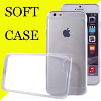 Pour Iphone 7 Étui Samsung Note 7 S7 S7 pointe Iphone 6s Crystal Gel Étui pour iPhone 6s Plus ultra-mince transparente Soft TPU Cases Clear sca049