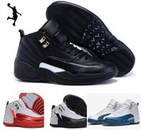 2016 Retro 12 XII French Blue Men Basketball Shoes Gym Red f...