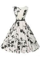 2016 Vintage Classy Casual Women Dresses Retro Scoop Printed...
