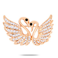 Christmas gift rhinestone brooches Love of Swan Crystal diam...