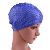 Silicone Swimming Cap Waterproof Waterdrop Cover Anti- skid D...