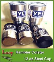 2016 10 12 oz can Yeti Vacuum isolé Rambler Colster Isolé en acier inoxydable Coupe Post Livraison gratuite