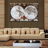 Огромные стены искусства Карта Восстановление древних путей Picture HD Топ-рейтинг Печать холст Живопись Домашнее украшение настенные картины для гостиной