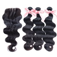 "Peruvian Hair Extensions 1PC Human Hair Lace Closure 4""..."
