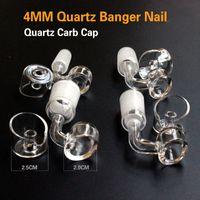 épais quartz 4mm banger clou avec bouchon de carb de quartz femelle / mâle 10/14 / 18MM livraison gratuite