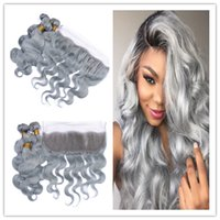 Brazilian Body Wave 13x4 Lace Frontal Closure With Silver Gr...