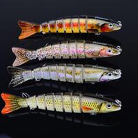 Новый 2016 1шт Swimbait Sunlure 8 секций рыболовную приманку 12cm / 21g Swimbait Рыбалка приманки крючок рыболовные снасти