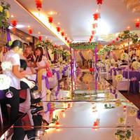 1m Wide Shine Silver Mirror Carpet Aisle Runner For Romantic...
